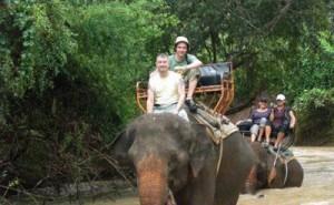 فیل سواری در پارک ملی بانکوک