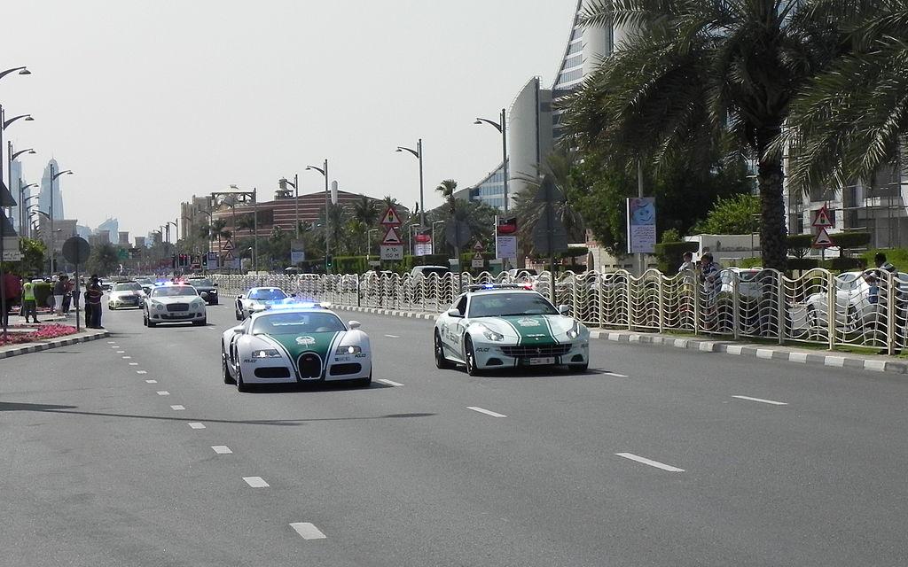 خودرو های پلیس در دبی
